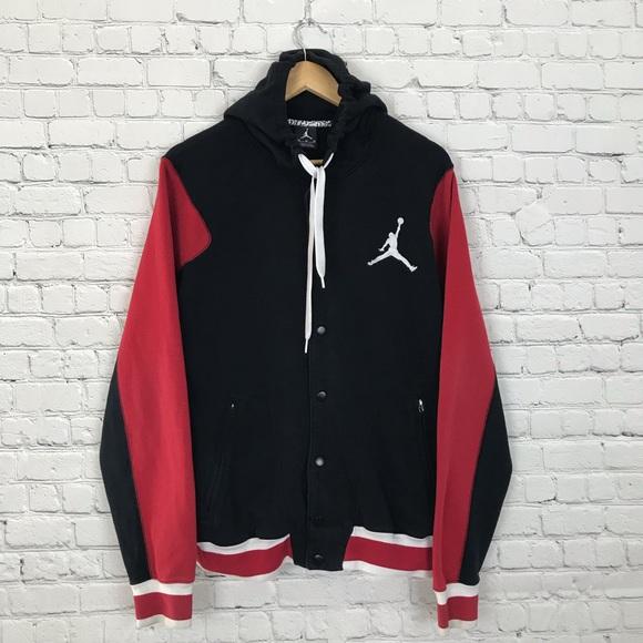 ca6ecce09da Jordan Jackets & Coats | Nike Air Jumpman Button Up Hoodie Jacket ...